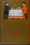 Cover of 'Living on a Little,' one of the cookbooks in the exhibit.