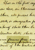 Part of page two of the Preliminary Emancipation Proclamation.