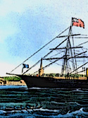 part of a print of the caloric ship Ericsson (digitally altered)