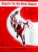 Cover of sheet music for 'Rudolph the Red-nosed Reindeer.'""