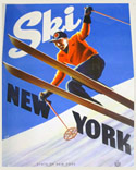 'Ski New York' winter tourism poster.