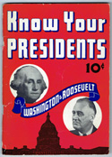 Book cover from the display -- Know Your Presidents: Washington to Roosevelt