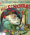 Book cover from an 1888 version of 'A Visit of St. Nicholas.'