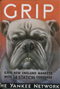 Ad with the image of a bulldog from an issue of the trade journal 'Tide.'