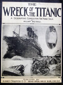 Cover of sheet music for a composition called 'The Wreck of the Titanic.'