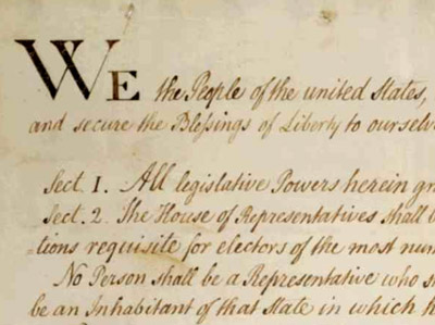 portion of New York's 1788 copy of the U.S. Constitution