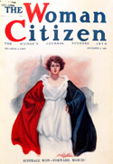 Magazine cover from The Woman Citizen after the 19th amendment passed