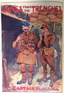 Illustration of two soldiers, one in a kilt, from 'Songs from the Trenches.'
