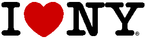 I heart New York logo long
