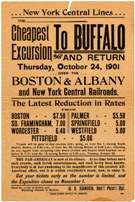 broadside advertising travel between Albany and Buffalo