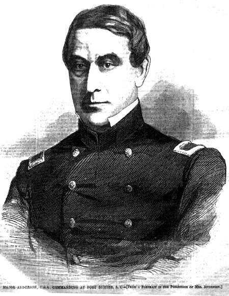 major robert anderson Major robert anderson, first artillery, will forthwith proceed to fort moultrie, and immediately relieve bvt col john gardner,.