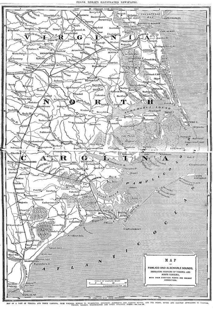 Map of a Part of Virginia and North Carolina: Battle of