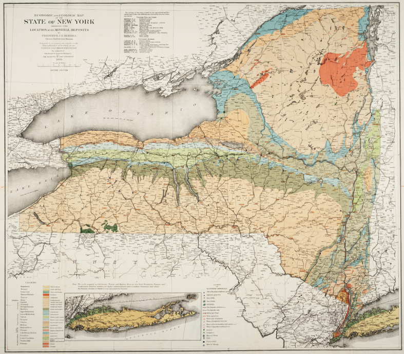 economic and geologic map of ny museum bulletin 15 mineral resources of the state of new york