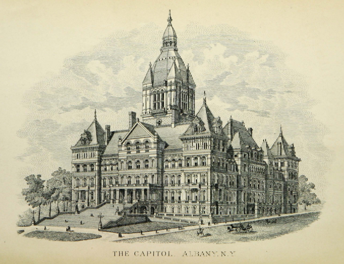 Etching Of The Nys Capitol Building In Albany Ny